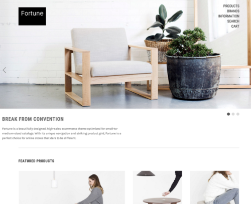 Fortune Minimal Bigcommerce Theme