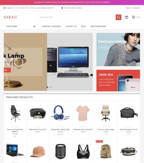 SarahMarket Bigcommerce Theme