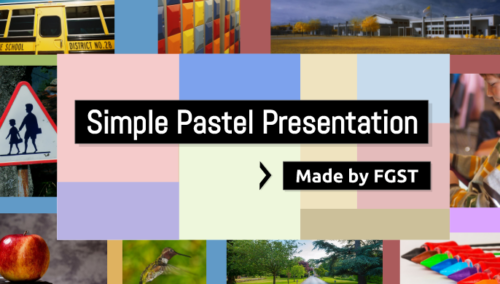 Simple Pastel Presentation Theme