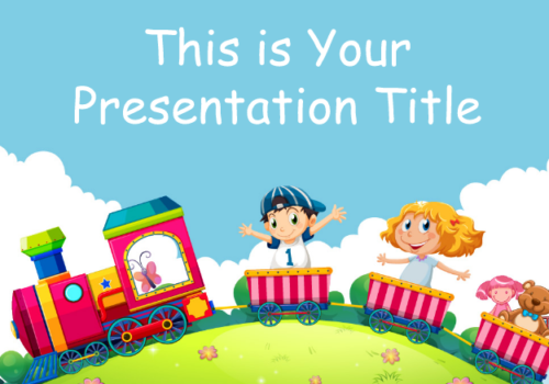 Toy Train Free Google Slides Theme Template