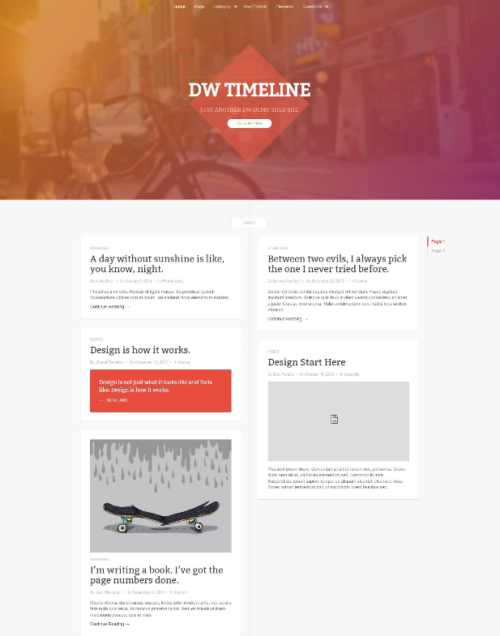 DW Free Timeline WordPress Theme
