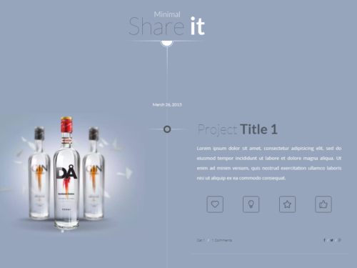 Share It Minimalist WP Theme