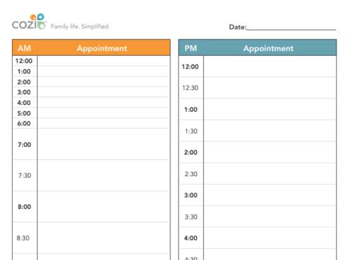Printable CalendarsDay Planner