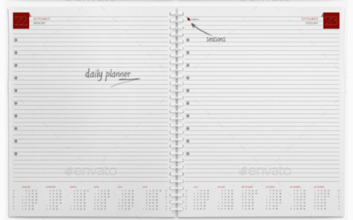 Planner / Organizer / Diary Template