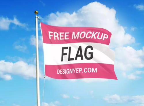 free_flag_mockup_psd