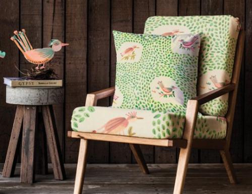 Fabric Chair & Cushion Mockup