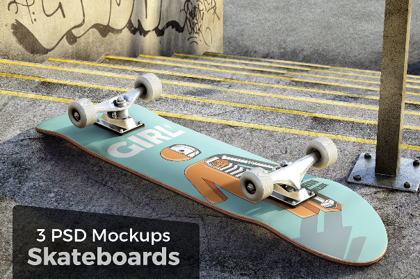 download 10  free skateboard mockups design