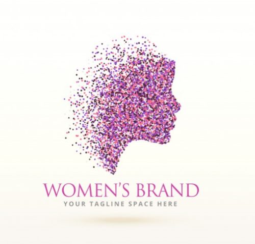 silhouette_woman_logo_with_particles
