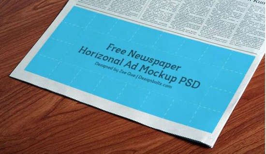 Newspaper Mockup on books desktop themes