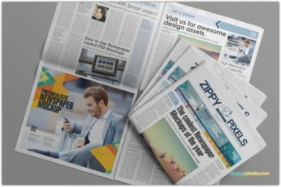 customizable_newspaper_&_advertising_mockup