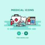 20+ Free Medical and Health Icon Sets