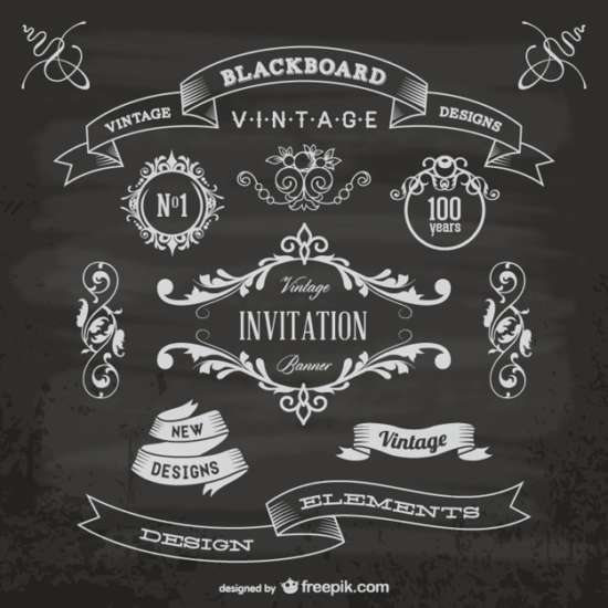 blackboard_anniversary_graphic_elements
