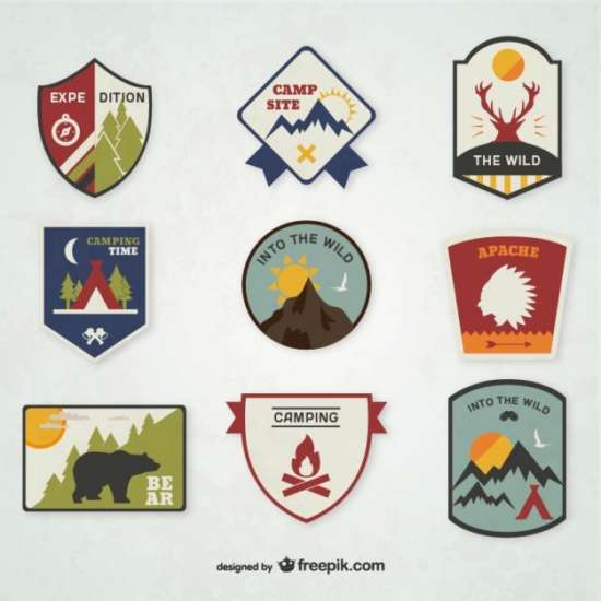 camping_emblems_set