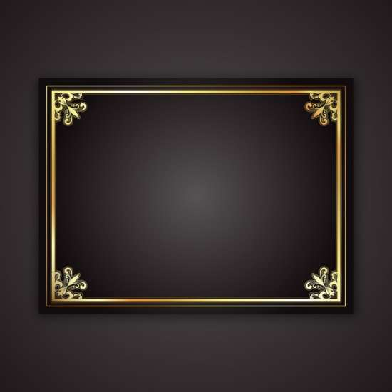decorative_gold_frame_on_a_black_gradient_background