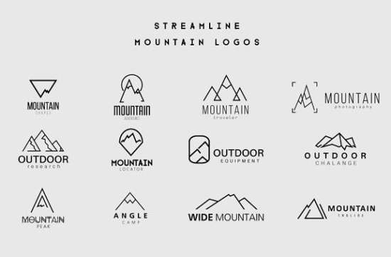 streamline_mountain_logos