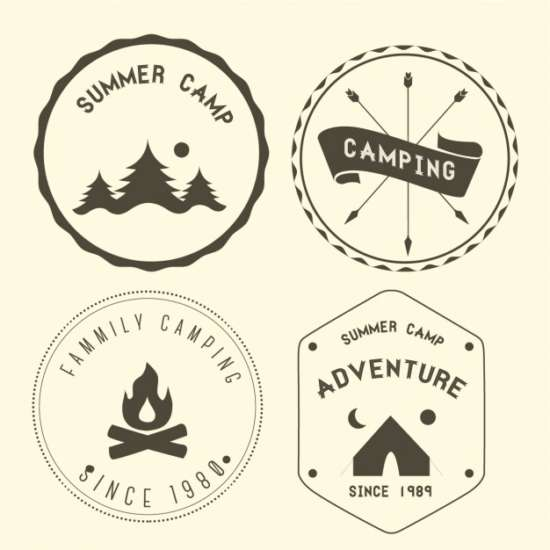 four_camping_badges