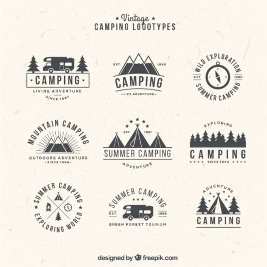 hand_drawn_camping_logos_in_vintage_style