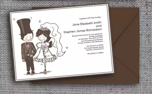 caricature_style_wedding_invitation