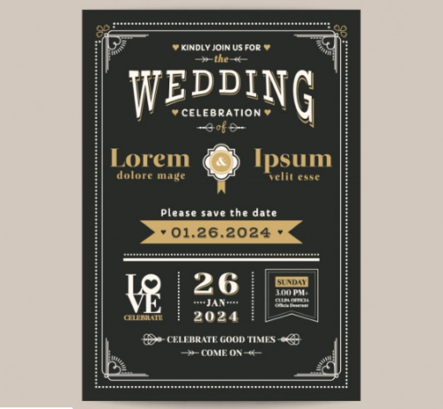 vintage_black_wedding_invitation