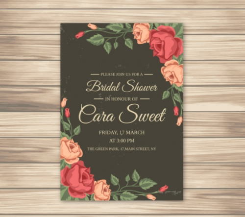 bridal_shower_invitation_with_roses