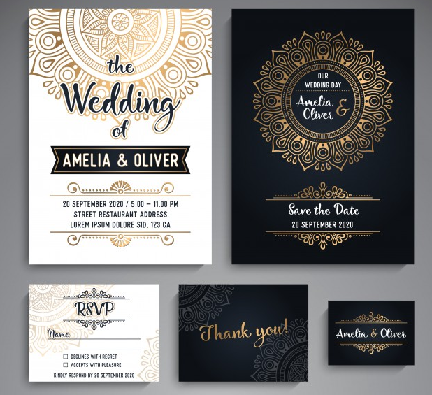 vintage_wedding_cards_with_mandala_elements