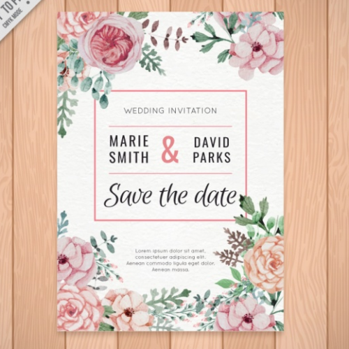 free_beautiful_wedding_invitation_of_watercolor_flowers