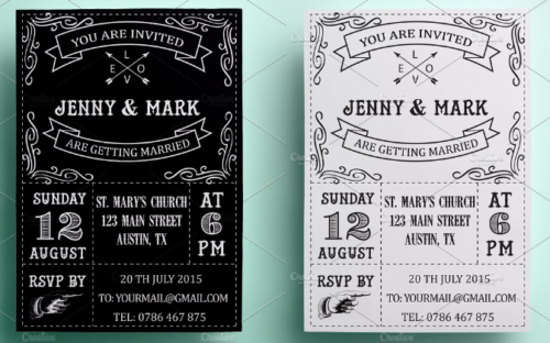 retro_wedding_invitation