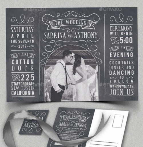 chalk_wedding_invitation_with_photo_frame