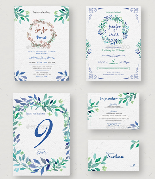 wedding_invitation_rsvp_information_card_template