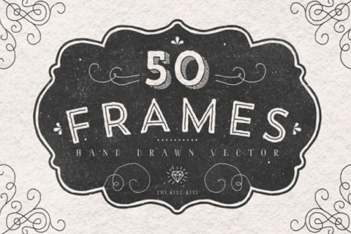 original_vintage_hand_drawn_frames