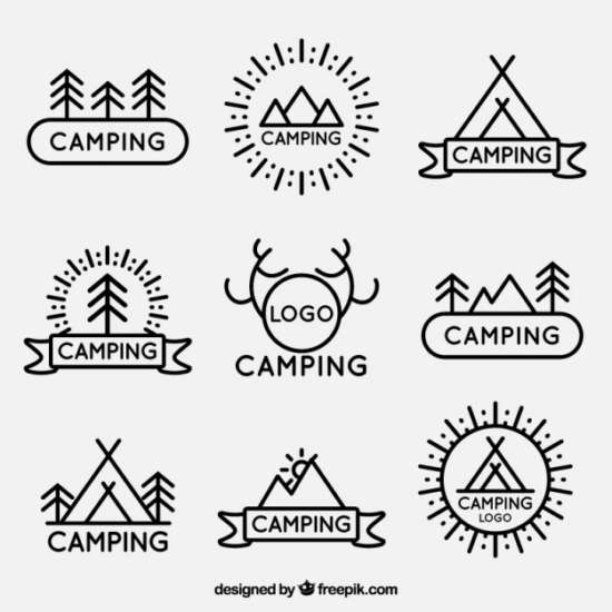 lineal_campsite_logotypes_pack