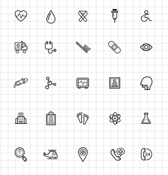 medical_and_science_outline_icon_set