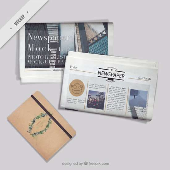 newspaper_mockups_with_a_vintage_notebook