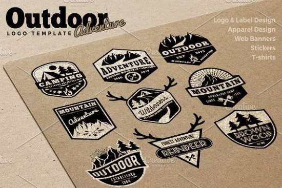 9_badges_logo_of_outdoor_adventure_in_eps_ai