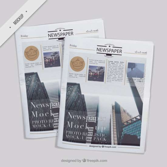 several_realistic_newspaper_mockups