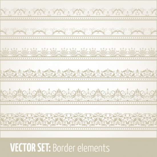 vector_set_of_border_elements_and_page_decoration