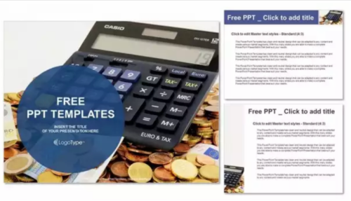 calculator_and_euro_banknotes_power_point_templates