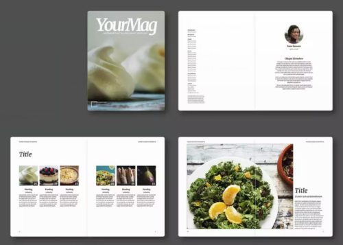 food_magazine_layout