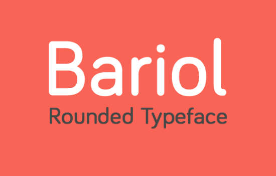 bariol_rounded_font