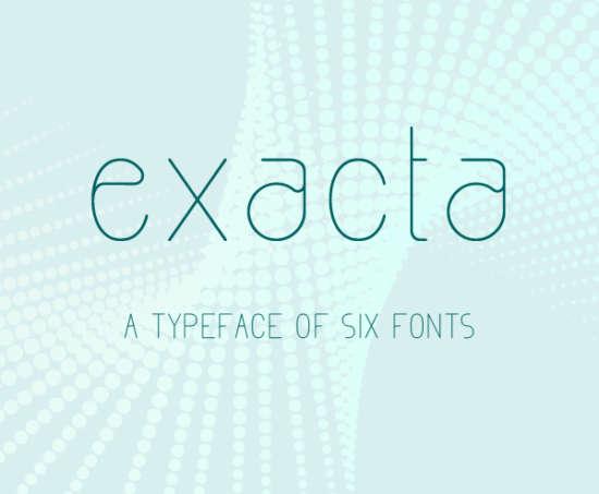 exacta_rounded_font