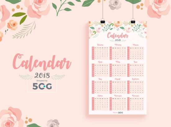 one_page_2018_printable_wall_calendar_design_template