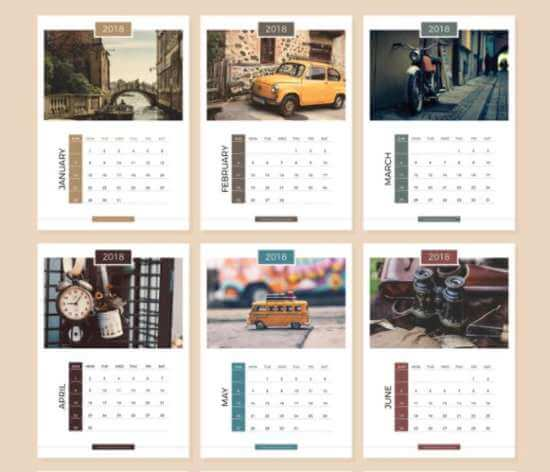 13_pages_complete_2018_calendar_design_templates