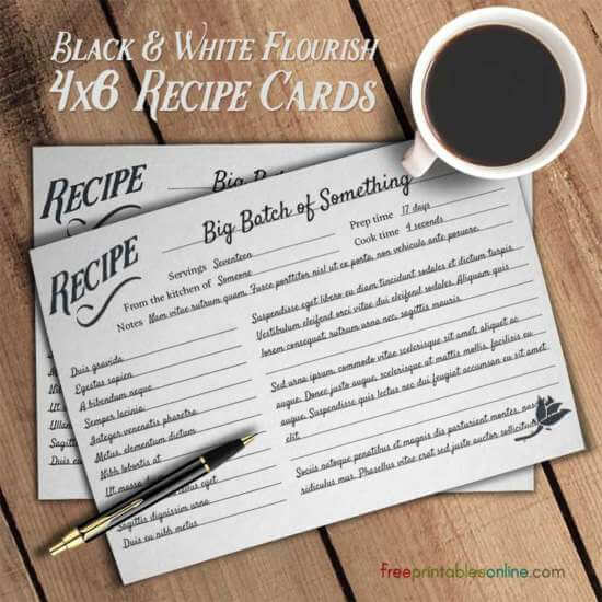 black_and_white_recipe_cards