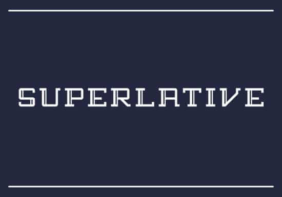 superlative_hipster_font