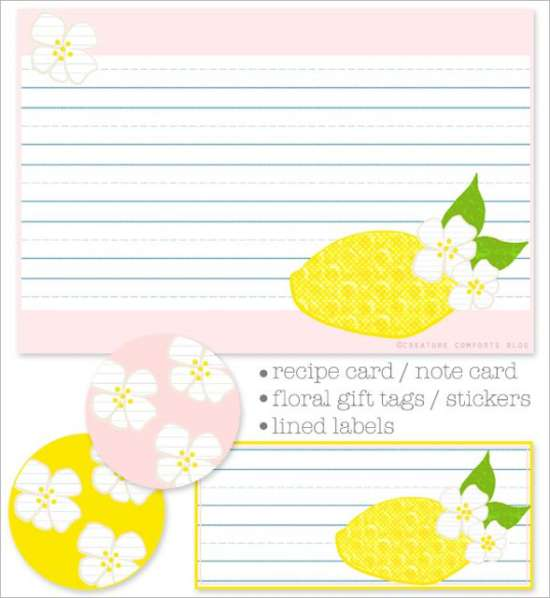 pink_lemonade_printable_recipe_cards