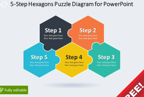 5_step_hexagons_puzzle_diagram_for_power_point