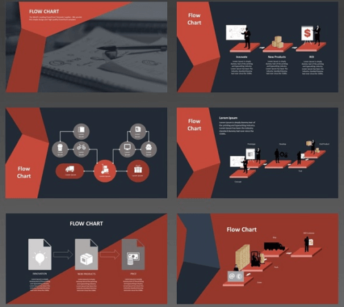 animated_flowchart_animation_red