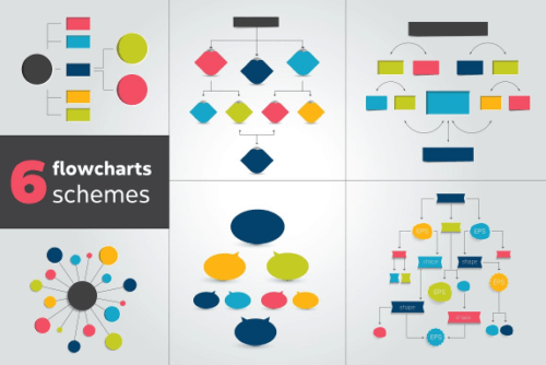 flowchart_schemes_for_infographics