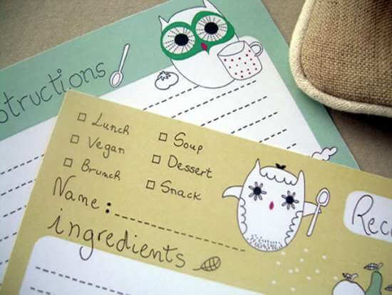 free_owl_recipe_cards