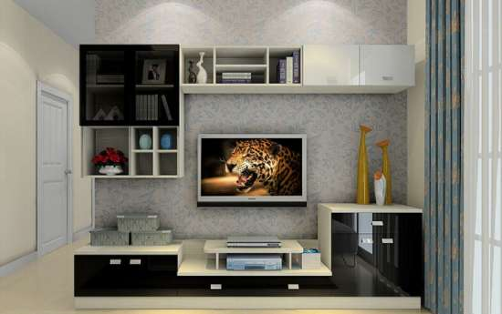 free_wall_mounted_tv_mockup_psd